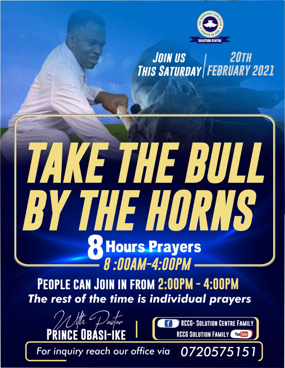 Take the bull by the horns