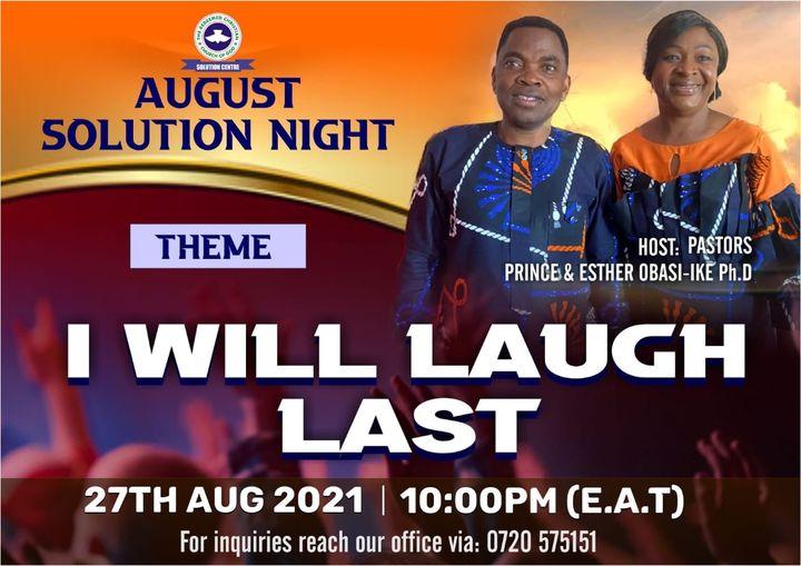 Solution Night (Mini Kesha) – You Shall Laugh Last