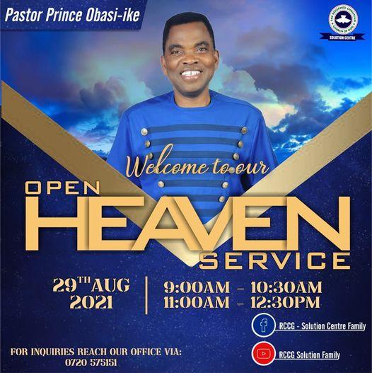Open heavens Sunday Service