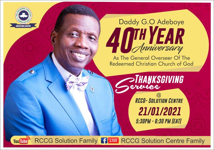 Thanksgiving Service – 40 Years of God's Mercy