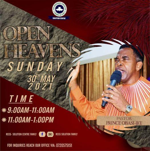 Sunday service – open heavens service