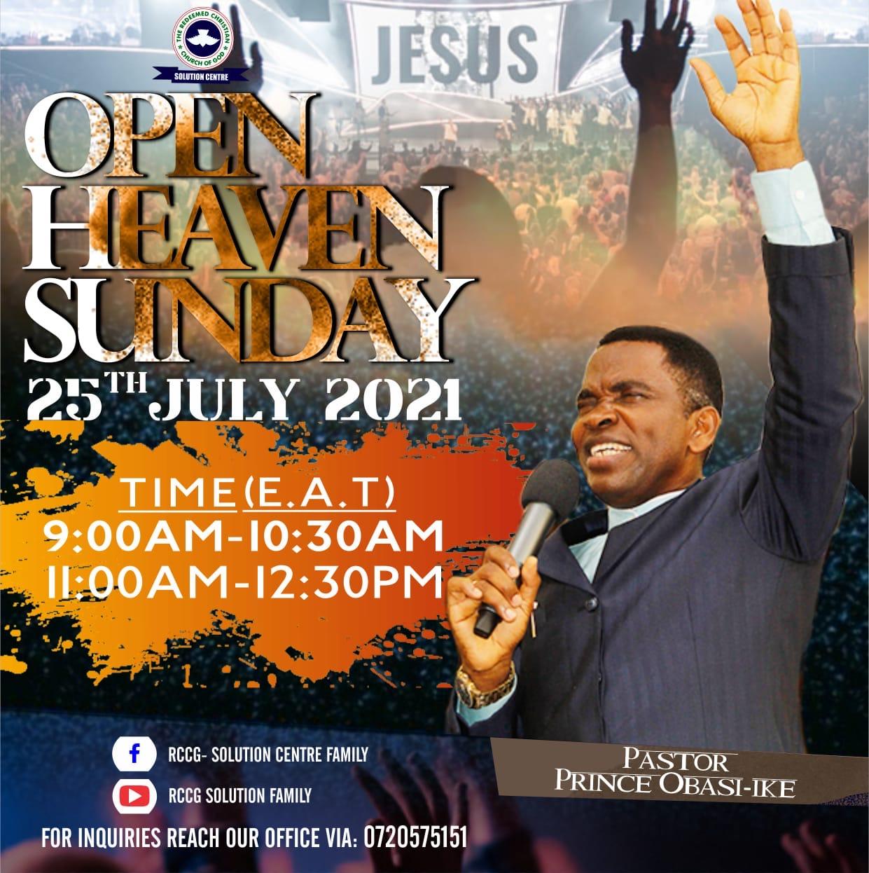 Open heaven Sunday Service